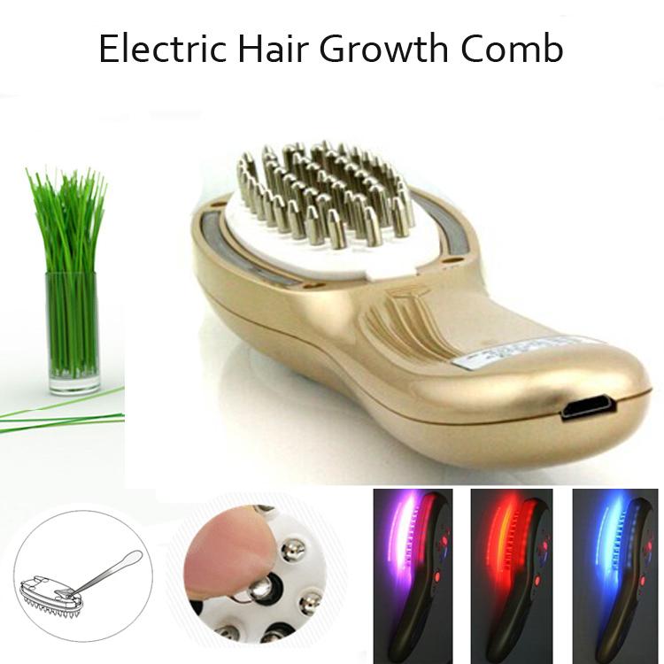по DHL Электрический массажер Vibrative волос роста волос расческа для лечения выпадения волос
