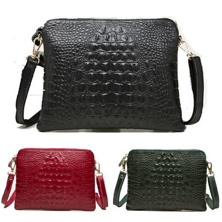 New fashion women messenger bag genuine leather shoulder crossbody bag Alligator handbag women clutch bag purse women wallets(China (Mainland))
