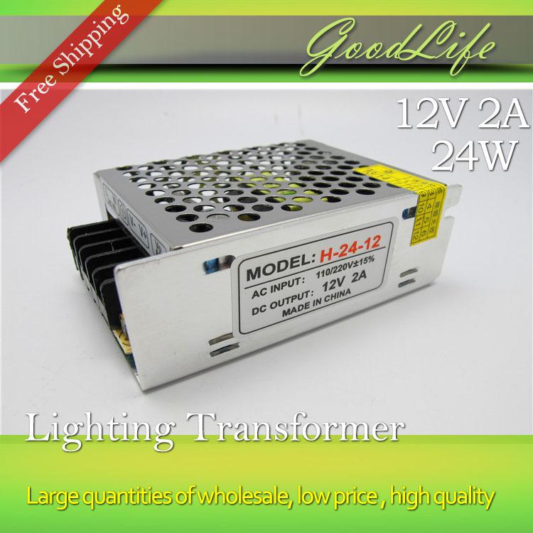 Гаджет  12V 2A 24W 110V-220V Lighting Transformer High quality driver for LED strip power adapter None Свет и освещение