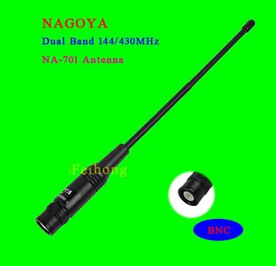 Nagoya Na-701 Bnc Uhf+vhf Handheld Antenna For Tk100 Tk200 Ic-v8 Ic-v80 Ic-v82 Ic-u82 Icom Two Way Radio.(China (Mainland))