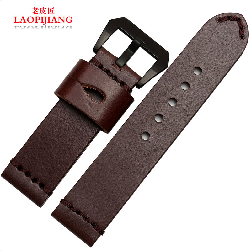 LaopijiangLeather watch band rough handmade leather strap adapter PAM111 men watch 24mm<br><br>Aliexpress
