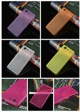 1PCS LOT Brand New Matte Plastic Soft Back Print Shell Cover Case For Sony Xperia Z3