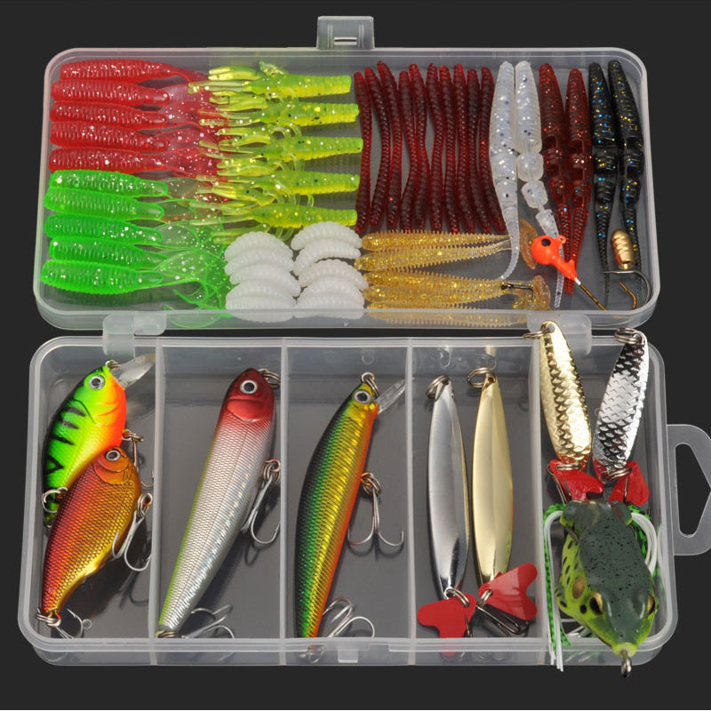 Hot 3 styles mixed fishing lure multi colors metal spoon for Fishing lure kits