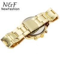 Продажа новых унисекс Кварцевые женские часы geneava часы полностью стальной часы аналоговые наручные часы горный хрусталь 24