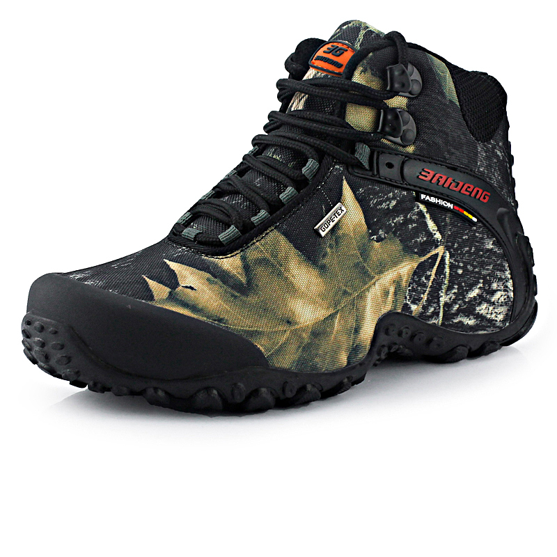 New fashion waterproof canvas <font><b>hiking</b></font> <font><b>shoes</b></font> boots Anti-skid Wear resistant breathable fishing <font><b>shoes</b></font> climbing high <font><b>shoes</b></font>
