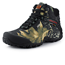 2015 New wild fashion waterproof canvas hiking shoes Anti-skid Wear resistant breathable fishing  climbing high shoes