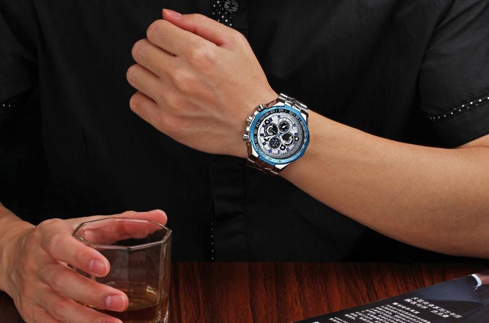 FOTINA Люксового Бренда Мужчины Часы Новый Подлинный Спортивные Часы Мужчин Из Нержавеющей Стали Группа Световой Наручные Часы Relogio Мужской Часы