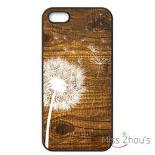 Dandelion on Vintage Wood Protector back skins mobile cellphone cases for iphone 4/4s 5/5s 5c SE 6/6s plus ipod touch 4/5/6