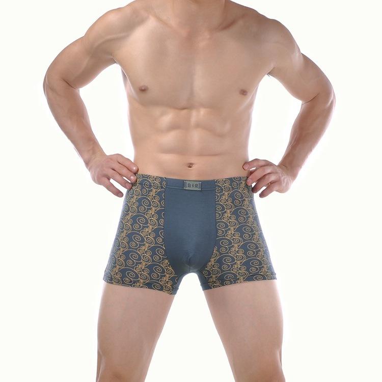 High Quality 8pcs/lot Sexy Bamboo fiber Men printing Boxer Shorts Men's Brand Boxers Mens Underwear L-XXL Free Shipping(China (Mainland))