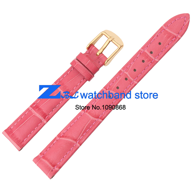 PInk Genuine leather watchbands 14mm 16mm 18mm  20mm  female watch belt strap wristwatches band women gold clasp <br><br>Aliexpress