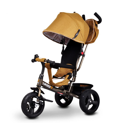 Lecoco 1 - 3 Years Old Child 3 Wheel Tricycle Bike Baby Bicycle Buggiest Brand Baby Kids Trolley Baby Stroller 3 in 1(China (Mainland))