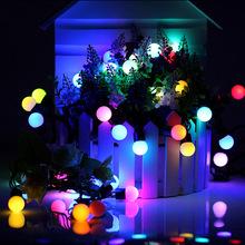 EPBOWPT 5M 50LEDs Mini Ball Global LED String Light US/EU 110V/220V RGB Twinkle Color Change Waterproof for Wedding/Party/Garden(China (Mainland))