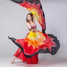 2015 New Belly Dance Silk Isis Wings High Quality Dancing Real Silk Wings Belly Dance Silk Veils 2PCS/LOT, NO STICKS