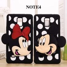 phone case Samsung Galaxy Note3 4 5 A7 E7 J7 A5 E5 J5 G530 S4 S6 3d cute cartoon Mickey Minnie silicone Capa Fundas - Lucy Shop store