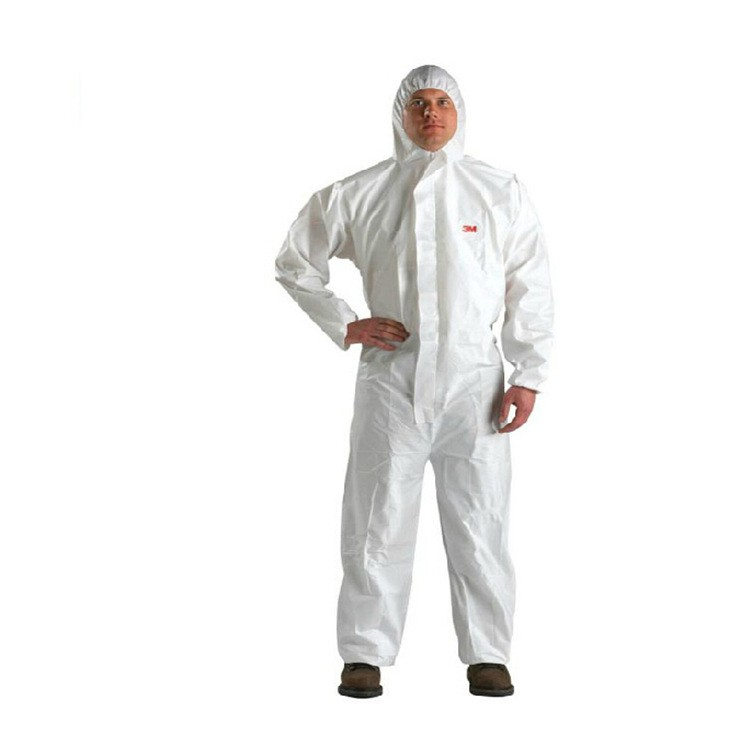 White Non-Woven fabric Coverall Clothes Anti static and Anti chemical liquid splash and effective protection of particles cloth
