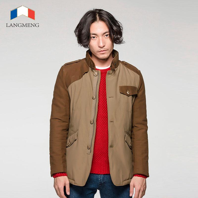 2014 hot sale men winter warm coat brand design men outwear thick casaul jacket coats stand collar stylish windproof men blazers