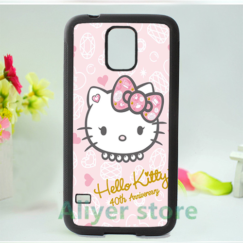 hello kitty sanrio 17 cell phone case cover for Samsung galaxy S3 S4 S5 S6 S7 Note 2 Note 3 Note 4 *vf646(China (Mainland))