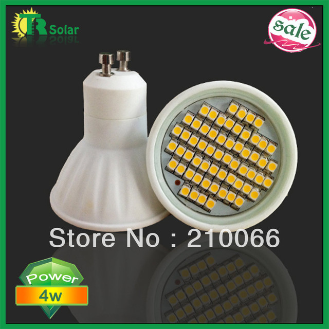 10pcs/ lot 4w SMD3528 60pcs LEDs GU10/MR16/E27/E14 Ceramic Spot light 2 year warranty Cool White Energy Saving Bulb
