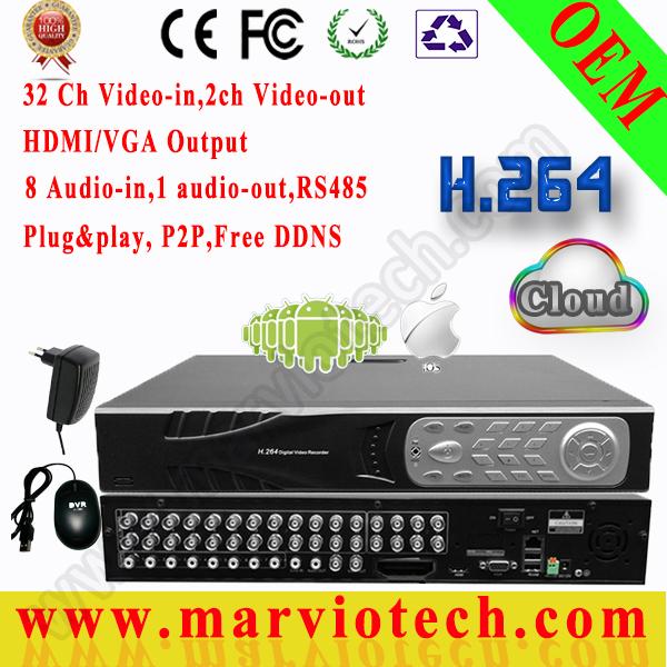32Ch CIF cameras of security record 32 ch playback,surveillance camera CCTV DVR professiona seguranca device 1080P HDMI output(China (Mainland))