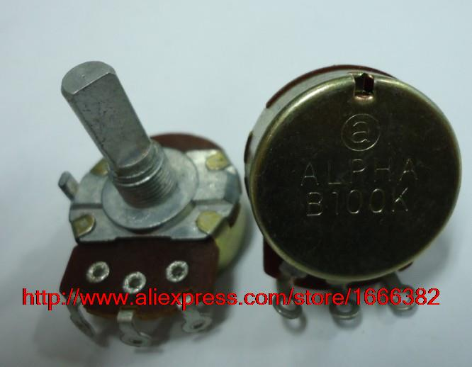 Electric guitar game potentiometer single linked B100K 20F RV24AF-10 5pcs(China (Mainland))