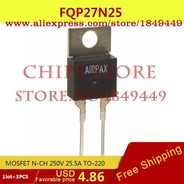 Бесплатная Доставка Integrated Circuit FQP27N25 27N25 TO-220 MOSFET N-CH 250 В 25.5A 3 ШТ.  free shipping 10pcs irfp4668pbf irfp4668 mosfet n ch 200v 130a 520w to 247ac