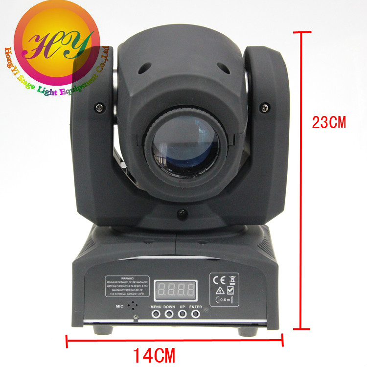 30PCS DMX-512 LED Mini Moving Head Sport Light Mobil head for dj light 8 gobos effect stage lights(China (Mainland))