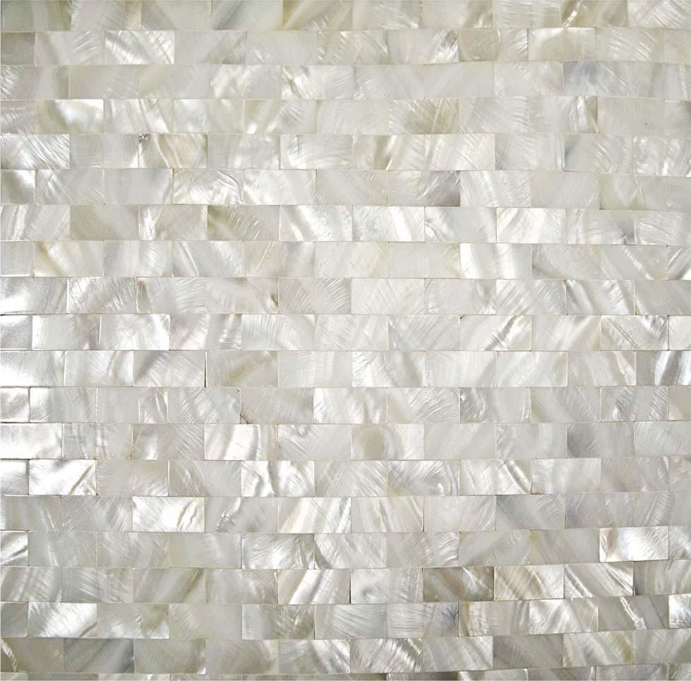 Metrotegels Keuken Kopen : Mother of Pearl Shell Tile