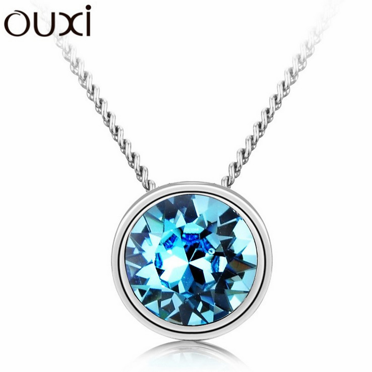 Best Quality Women Necklace Pendant Jewelry Cute Dot Jewlery Made with Swarovski Elements Crystals from Swarovski