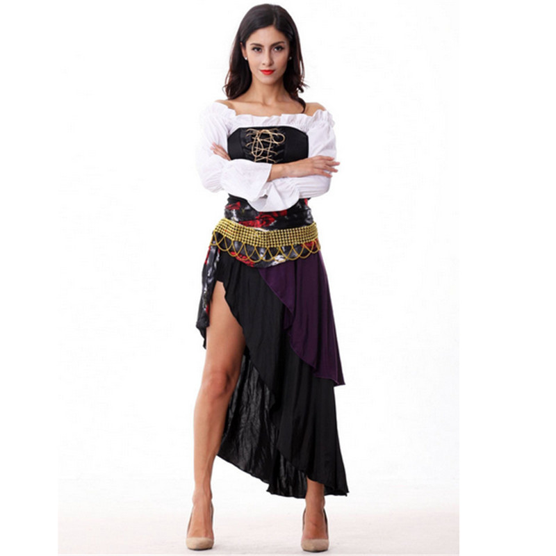 2016 New Sexy Women Pirate Costume Halloween high quality Fancy Witch queen Cosplay Dress new Year Carnival Party Adult Costumes(China (Mainland))