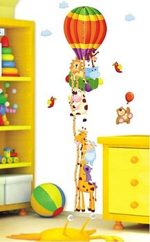 [listed in stock]-30x60cm (A+B) 170cm / 66inch Giraffe & Balloon kids room growth chart wall decals