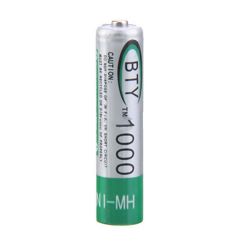 4pcs/lot Up to 1000 Times Rechargeable AAA NiMH Battery 1.2v 1000mah for Sony Digital camera Free Shipping(China (Mainland))