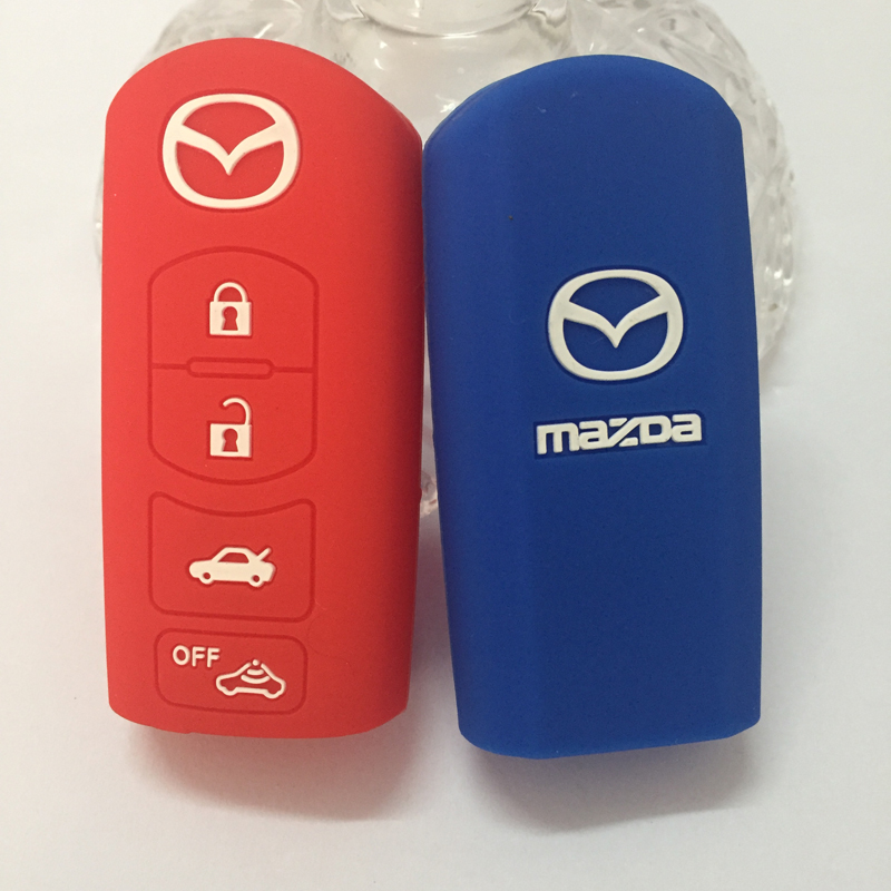 Silicon Cover Remote Key Silicone Protecting Key Car Case Cover Fob Holder For MAZDA CX 7