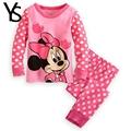 Girls Pajamas 95 Cotton Cartoon Suit Kids Children Clothing Set 2 Pcs Long Sleeve Sleep Night