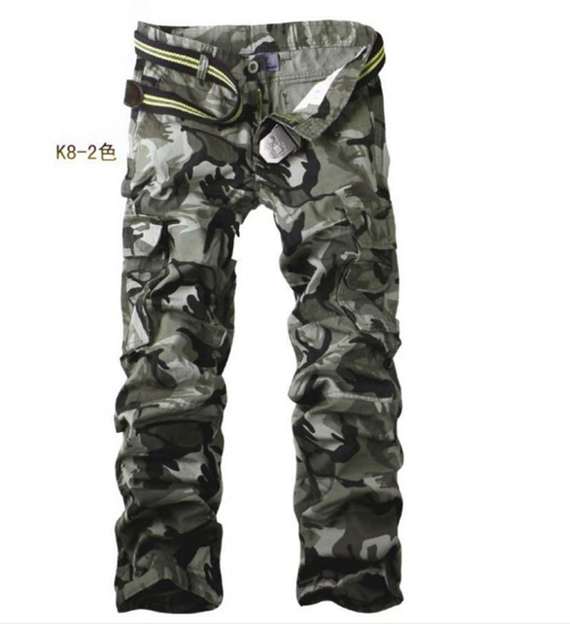 2016 Men's Outdoor Sport Casual Long Pants Military Army Camo Men Trousers Pocket Cargo Fashion Brand Joggers - Young Tempo Co.,Ltd store
