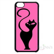 For iphone 4/4s 5/5s 5c SE 6/6s plus ipod touch 4/5/6 back skins mobile cellphone cases cover Cats Kitten Animal in Pink