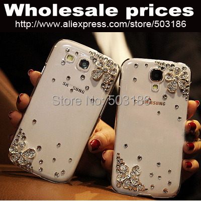 Beautiful Diamond Rhinestones Flower case cover For BlackBerry Z10 Z30 Q10 Q30(China (Mainland))