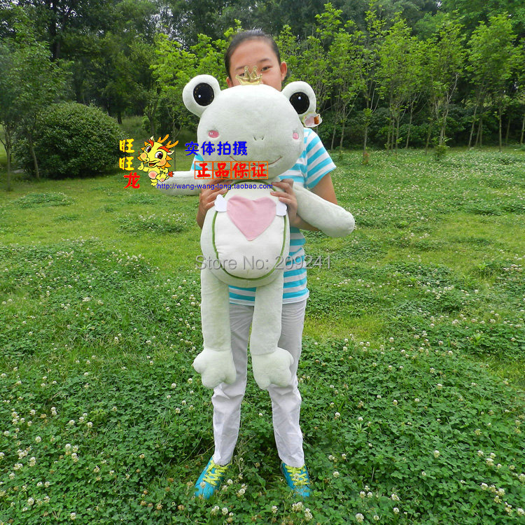 big lovely plush frog toy soft light green boy frog doll wedding gift about 90cm(China (Mainland))
