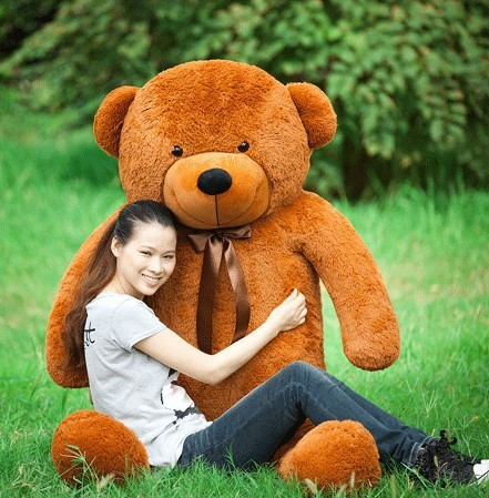 Giant teddy bear 180cm huge big stuffed animals plush toys animals soft kids toys children baby dolls for girls valentine gift(China (Mainland))