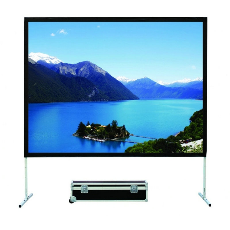 "Fedex Free Shipping 180"" 16:9 Format Rear and Front Fabric Portable Fast Fold Projection Screen,Foldable Screen With Flight Case(China (Mainland))"
