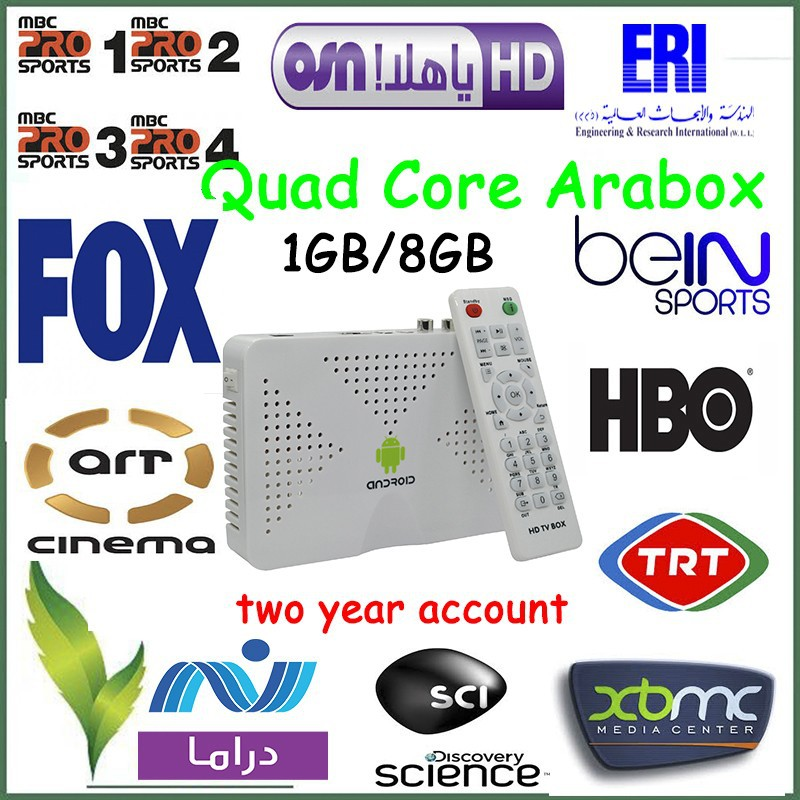 Arabic IPTV Box  ,Android TV Box with 600+ Arabic channels, enjoy BeinSports/MTV/MBC pro TV channels,Free Shipping