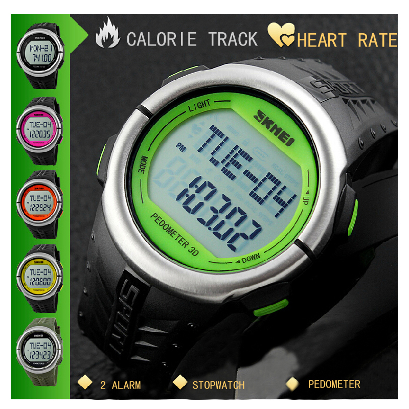 popular mens watch ratings buy cheap mens watch ratings lots from fashion outdoor sports watches pedometer heart rate monitor calories counter digital watch sport fitness men women