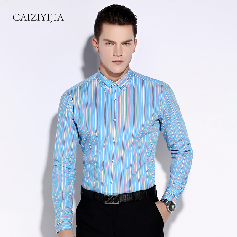 Buy fall 2016 new fashion mens multi for Striped button down shirts for men