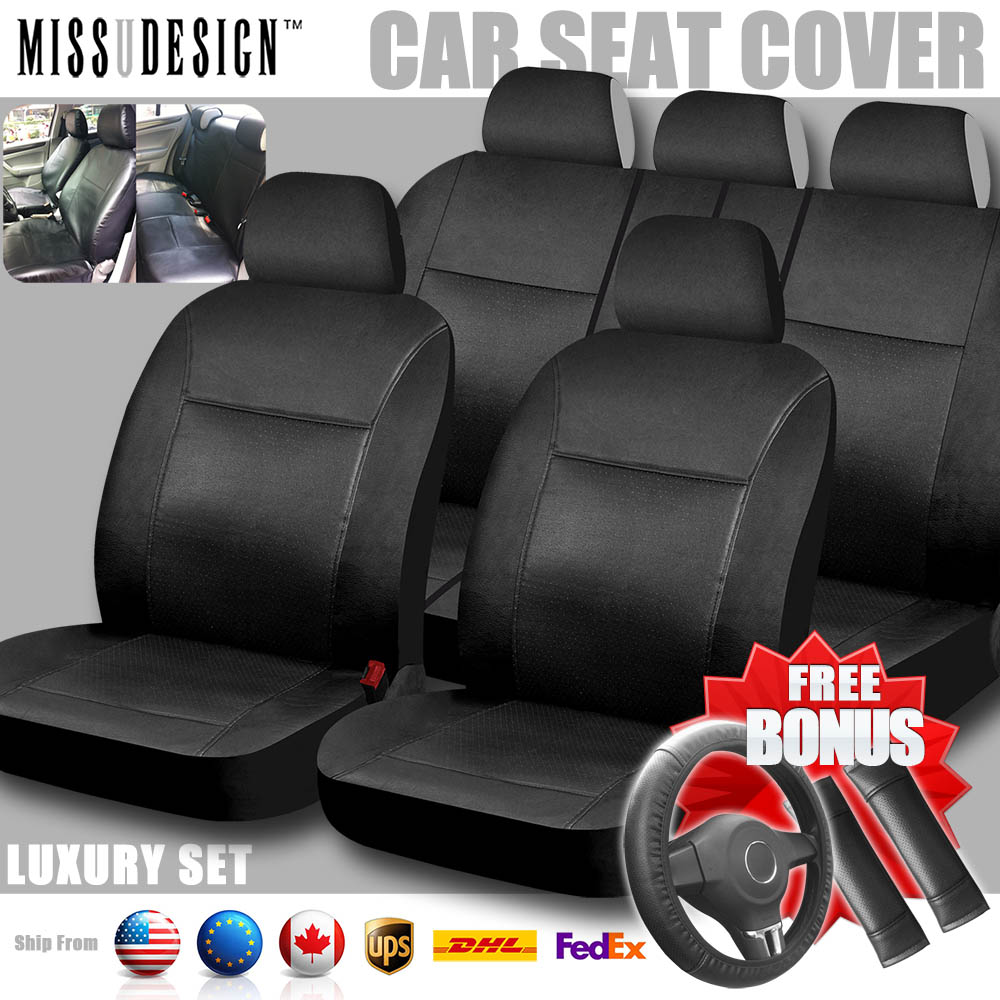 Luxury Universal Full Set Synthetic Leather PU PVC Styling Value Pack 12 pcs Car Cover Auto Interior Accessories Car Seat Cover(China (Mainland))