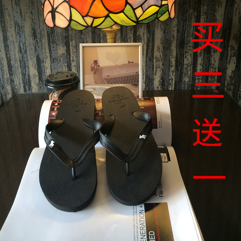 Fa 2015 lovers male slippers fashion flip flops fawn clamping jaw fashion sandals(China (Mainland))