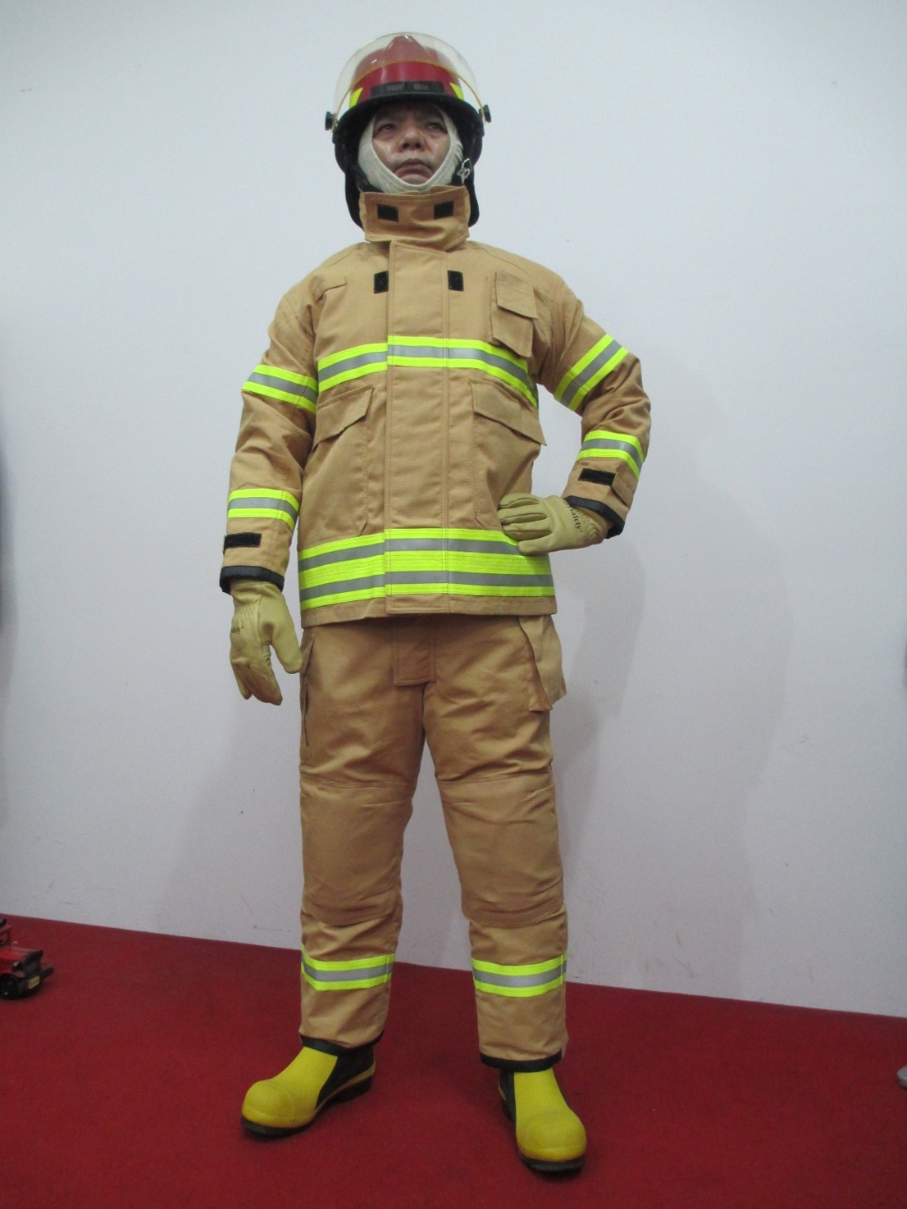 Fireman garment used for fire fighting yellow color Aramid fabric