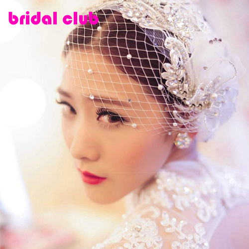 New Arrival  Luxury Handmade Crystal Pearl Lace Flower Bridal Head Rhinestone Wedding Hair Accessories Bride Ornament Jewelry<br><br>Aliexpress