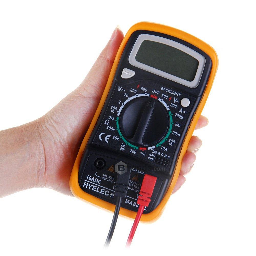 Гаджет  Hot Sale Universal HYELEC MAS830L Digital Multimeter AC / DC Voltage / DC Current / Resistance Multitester None Инструменты