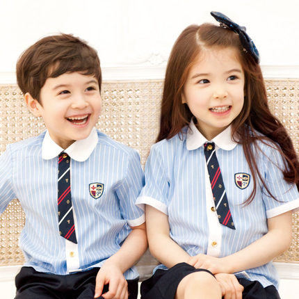 Wholesale Kid's School Uniforms 95% Cotton Summer Clothes Primary School Students Pupils Uniforms Childrens Day(China (Mainland))