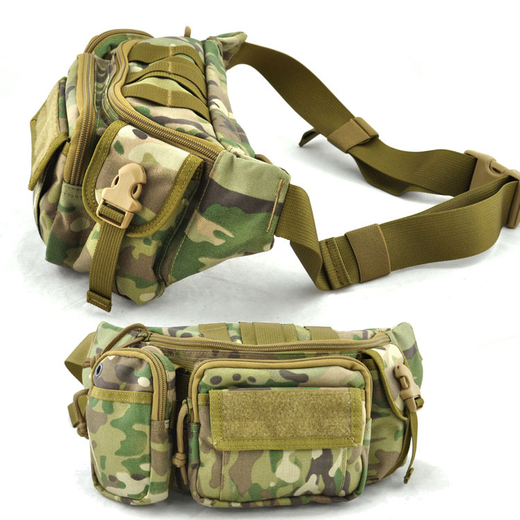 Outdoor Sport 1000D Cordura Waist Packs For Mountain Climbing Hiking Camping Bicycle Cycling Running 6.5L Molle Bag(China (Mainland))