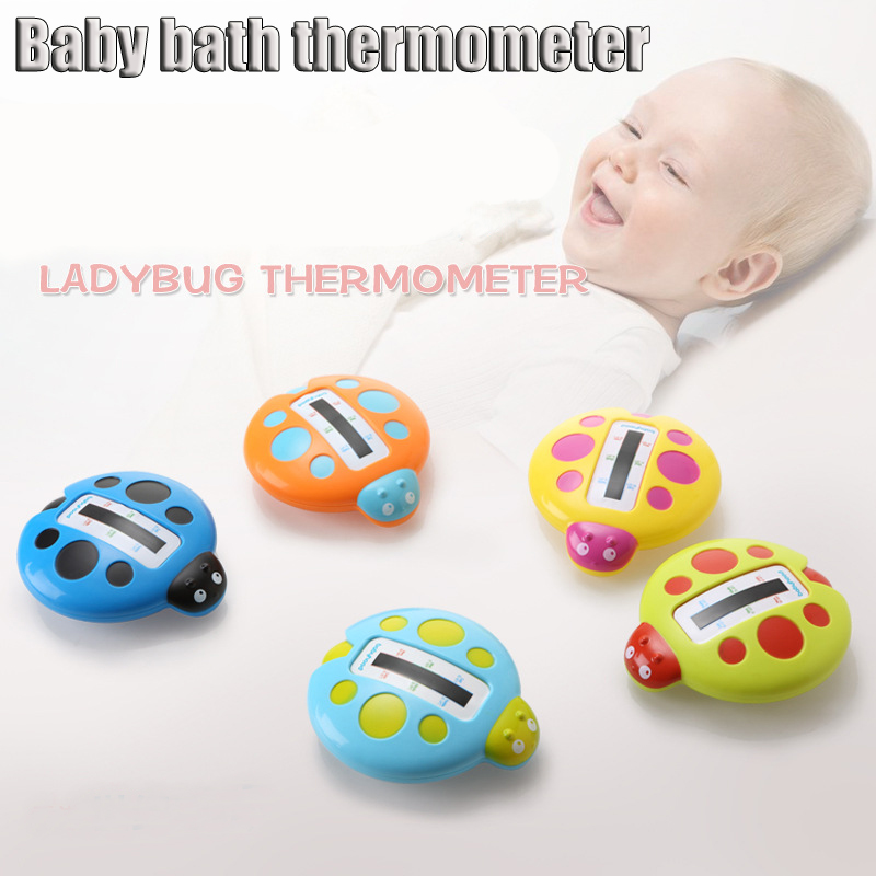 Infant Water Thermometers Fashion Cute Ladybird Shape Baby Bath Thermometer Bathtubs Shower Testing Water Temperature Tester Toy(China (Mainland))